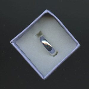 Ring Band 5mm wide Sterling Silver, Size 5.5